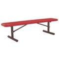 Backless Portable Diamond Pattern Steel Bench - 10'W, 87872