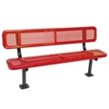 Surface Mount Perforated Steel Bench - 6'W, 87879