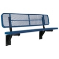 Wall Mount Perforated Steel Bench - 6'W, 87881