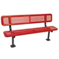 Surface Mount Perforated Steel Bench - 10'W, 87887