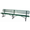 In-Ground Mount Perforated Steel Bench - 10'W, 87888