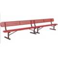 In-Ground Mount Perforated Steel Bench - 15'W, 87891