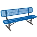 Portable Diamond Pattern Steel Bench - 8'W, 87895