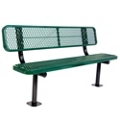 Surface Mount Diamond Pattern Steel Bench - 8'W, 87896