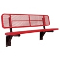 Wall Mount Diamond Pattern Steel Bench - 8'W, 87898