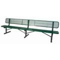Surface Mount Diamond Pattern Steel Bench - 10'W, 87900