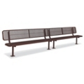 In-Ground Mount Diamond Pattern Steel Bench - 15'W, 87904
