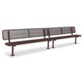 In-Ground Mount Diamond Pattern Steel Bench - 15'W, 87904