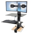 Adjustable Height Dual Monitor Desktop Mount, 11336