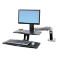 Light Duty Adjustable Height Single Monitor Desktop Arm with Worksurface , 11338