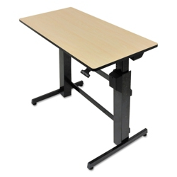 """Adjustable Height Computer Desk with Hand Brake - 47.6""""W x 26""""D, 11340"""