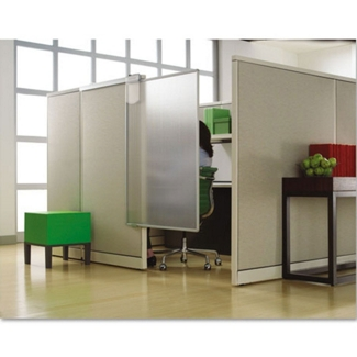 """36"""" W Translucent Workstation Privacy Screen, 21709"""