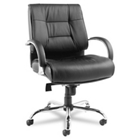 Big-and-Tall Mid-Back Leather Chair, 50769