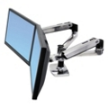 Adjustable Height Side-By-Side Dual Monitor Arm, 85387