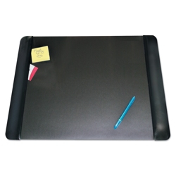 "Faux Leather Antimicrobial Desk Pad with Side Panels - 24""W x 19""D, 87469"