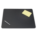 "Rigid Faux Leather Desk Pad with Decorative Stitching - 24""W x 19""D, 87479"
