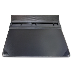 "Faux Leather Desk Pad with Storage - 22""W x 17""D, 87487"