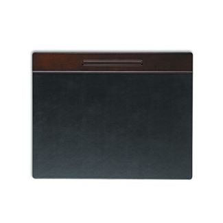 "Faux Leather and Wood Desk Pad - 24""W x 19""D, 87496"