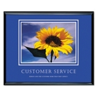 Framed Motivational Print - Customer Service, 91119