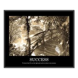 Framed Motivational Print - Success, 91122