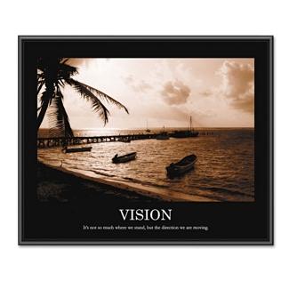 Framed Motivational Print - Vision, 91124