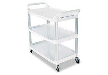 """38""""W Three Shelf Utility Cart, 36374"""