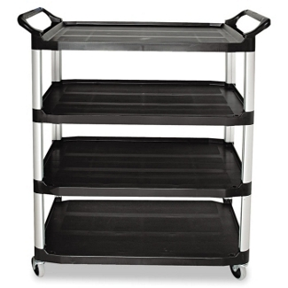"""41""""W Four Shelf Utility Cart, 36375"""