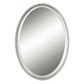 "32""H x 22""W Oval Metal Frame Mirror, 90014"