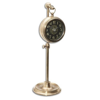 """4"""" DIA Adjustable Stand Table Clock, 90019"""