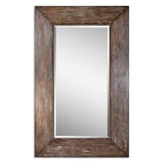 "80.5""H x 50.5""W Oversized Distressed Frame Mirror, 90024"