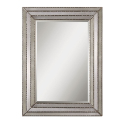 "46.75""H x 34.75""W Rectangular Inlay Frame Mirror, 90037"