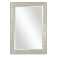 "41""H x 29""W Rectangular Textured Frame Mirror, 90038"