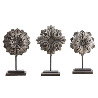 Floral Sculptures - Set of Three, 90059