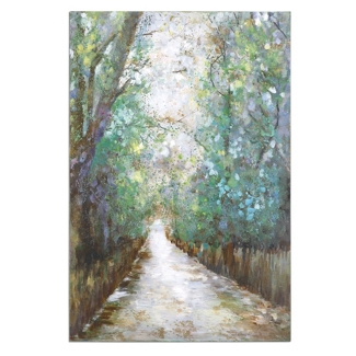 "40""W x 60""H Greenway Frameless Canvas Painting, 90060"