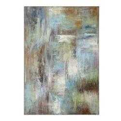 "48""W x 70""H Dewdrops Frameless Linen Painting, 90062"