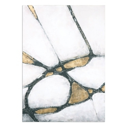 """42""""W x 60""""H Abstract in Gold and Black Wall Art, 90072"""