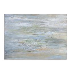 """48""""W x 36""""H Misty Morning Frameless Art, 90073"""