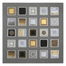 """48""""W x 48""""H Raised Borders Frameless Art, 90074"""
