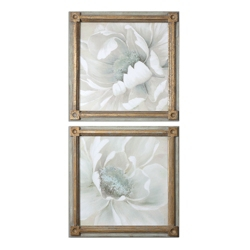 """29""""W x 29""""H (Each) Set of Two Winter Blooms Framed Wall Art, 90075"""