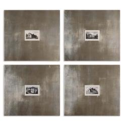 "23""W x 21""H (Each) Historical Buildings Set of Four Framed Prints, 90091"