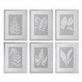 "20""W x 26""H (Each) Moonlight Ferns Framed Art, 90094"