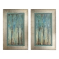 "21""W x 35""H (Each) Set of Two Whispering Wind Framed Art, 90098"