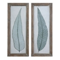 "16""W x 40""H (Each)  Set of Two Tall Leaves Framed Wall Art , 90099"