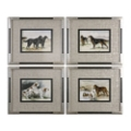 "20""W x 17""H (Each) Set of Four Working Dogs Framed Wall Art, 90102"