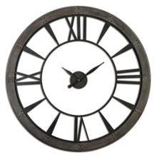 "60""Dia Oversized Rust Gray Open Wall Clock, 87605"