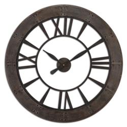 "40""Dia Rust Gray Open Wall Clock, 87606"