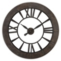 "40""Dia Rust Gray Open Wall Clock, 87606"