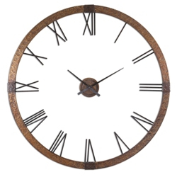 "60""Dia Oversized Copper Wall Clock, 87608"