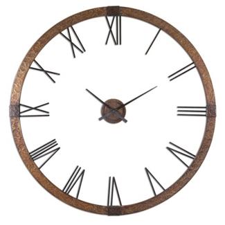 "60""Dia Oversized Copper Wall Clock, 87608"
