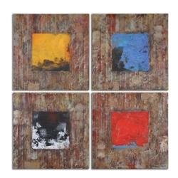 Primary Blocks Wall Art - Set of Four, 87744